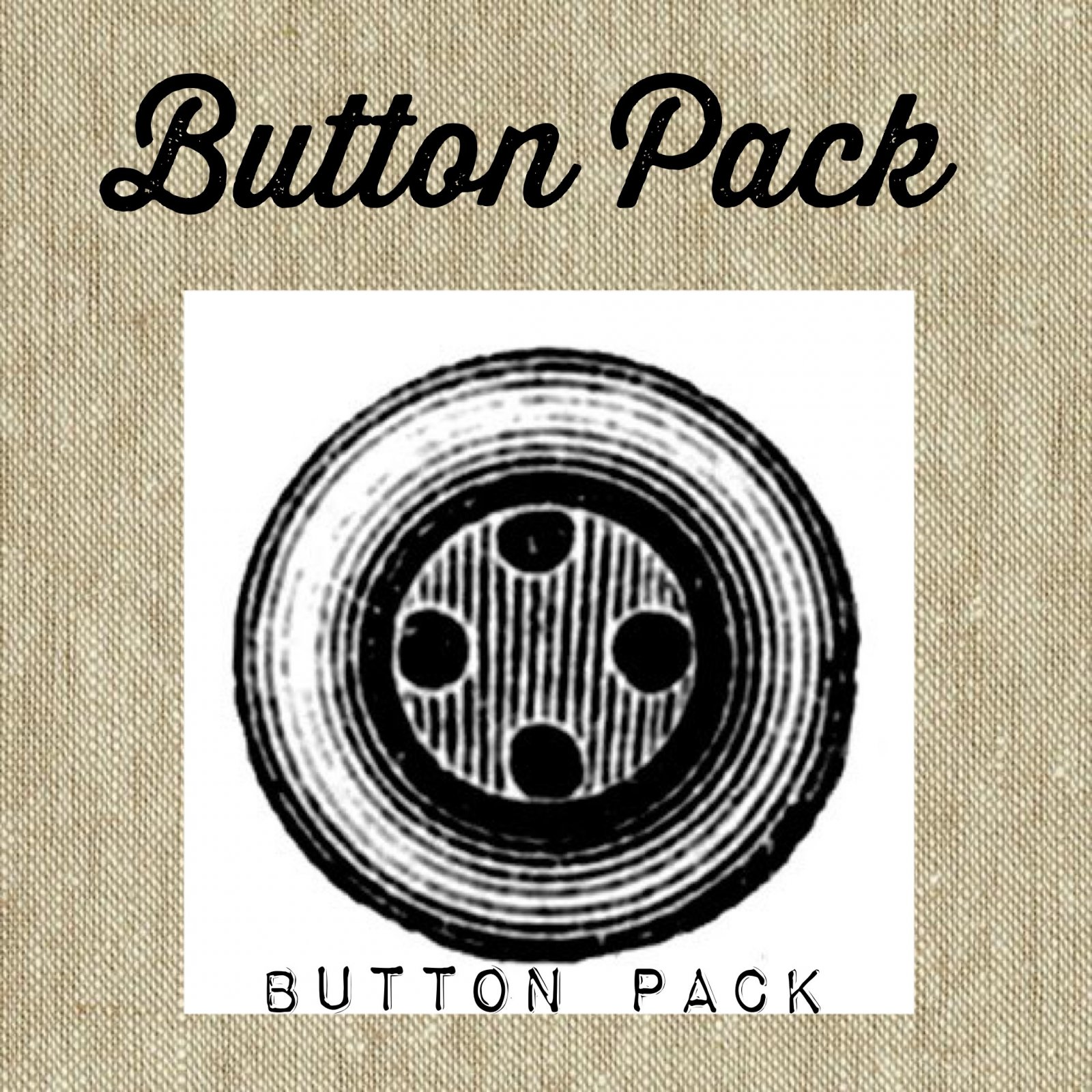 Mini Vintage Wagon July * Button Pack