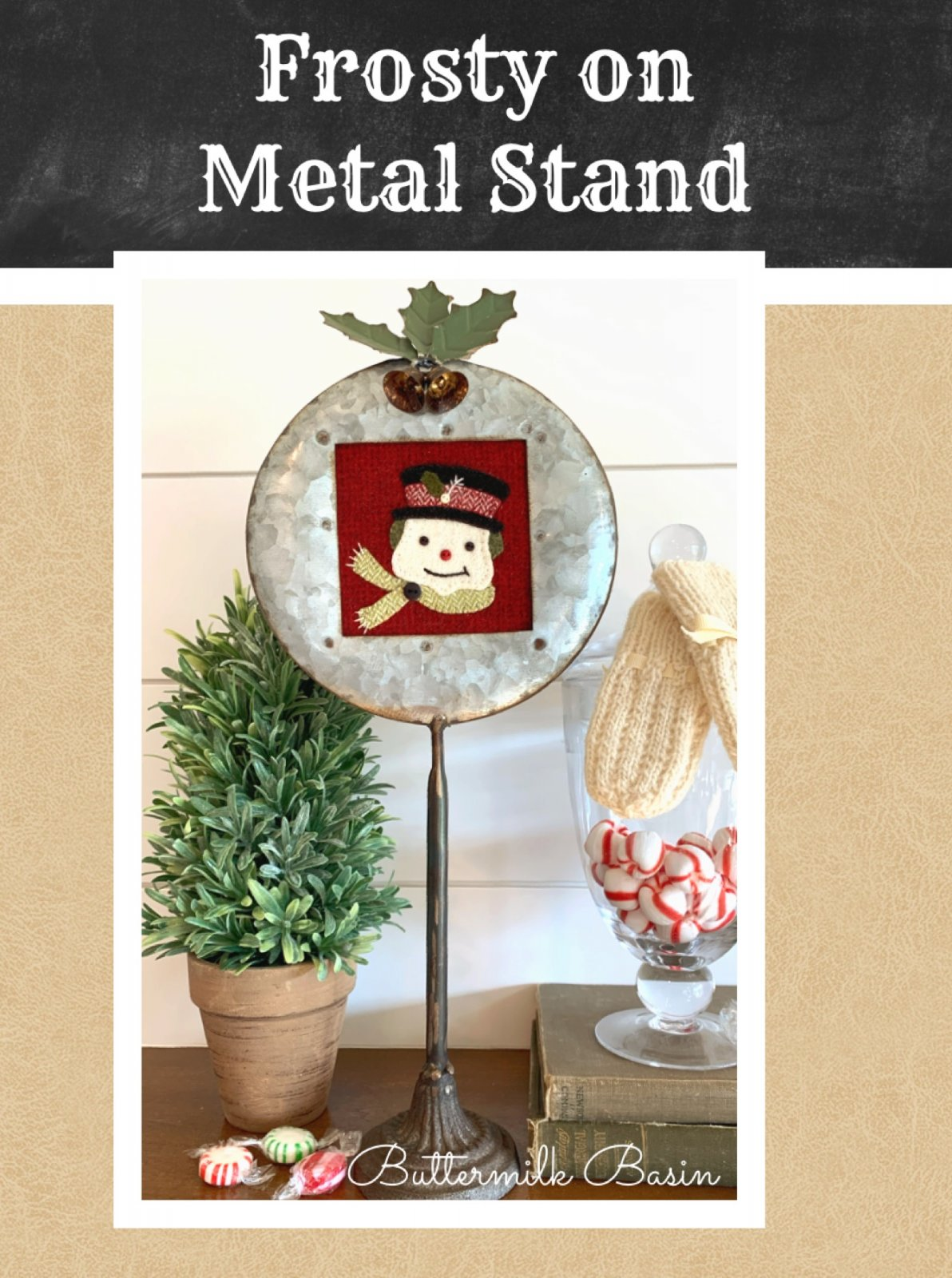 Frosty on Metal Stand * KIT, Stand & Pattern
