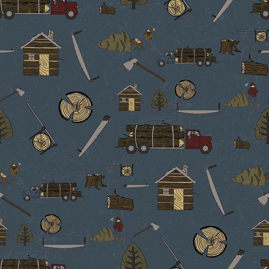 Blue Lumberjack Aaron Main - C8700 * 1/2 yard
