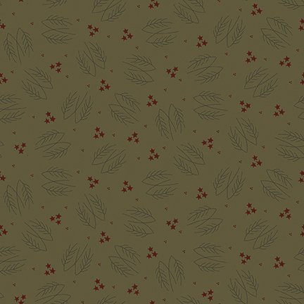 Green Lumberjack Aaron Evergreen Branches - C8701 * 1/2 yard