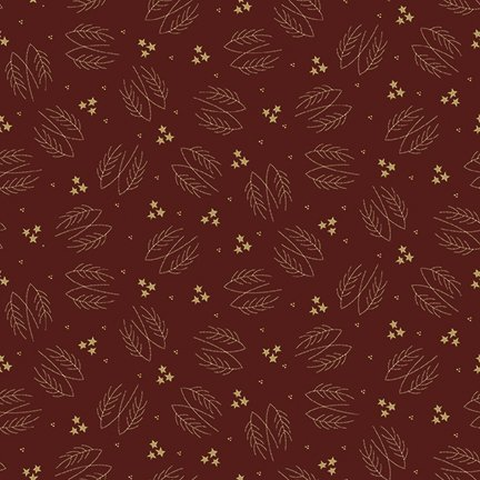 Red Lumberjack Aaron Evergreen Branches - C8701 * 1/2 yard