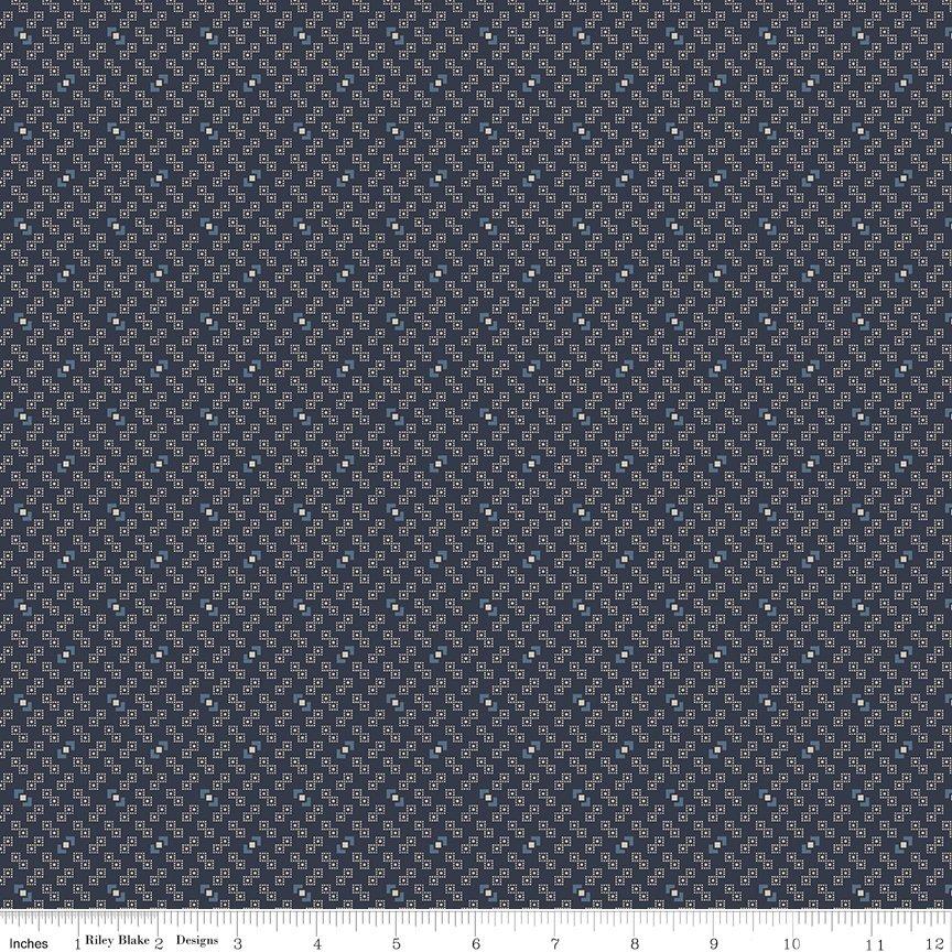 Buttermilk Basics * C9183 Navy - 1/2 yard