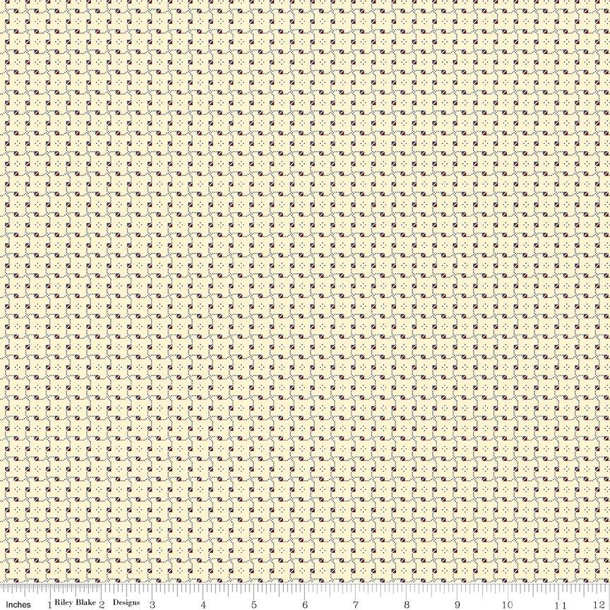 Buttermilk Basics * C9185 Red - 1/2 yard