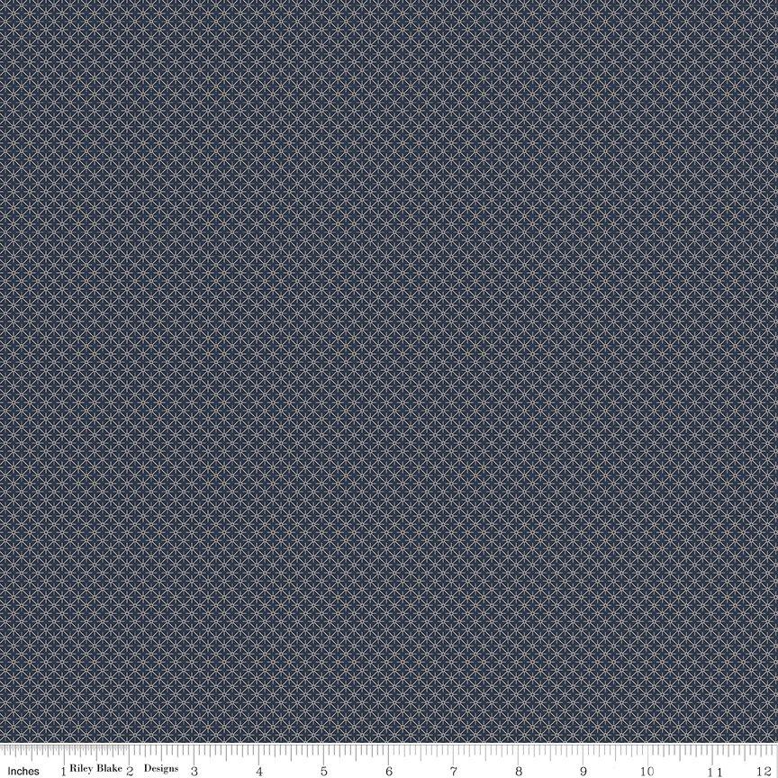 Buttermilk Basics * C9187 Navy - 1/2 yard