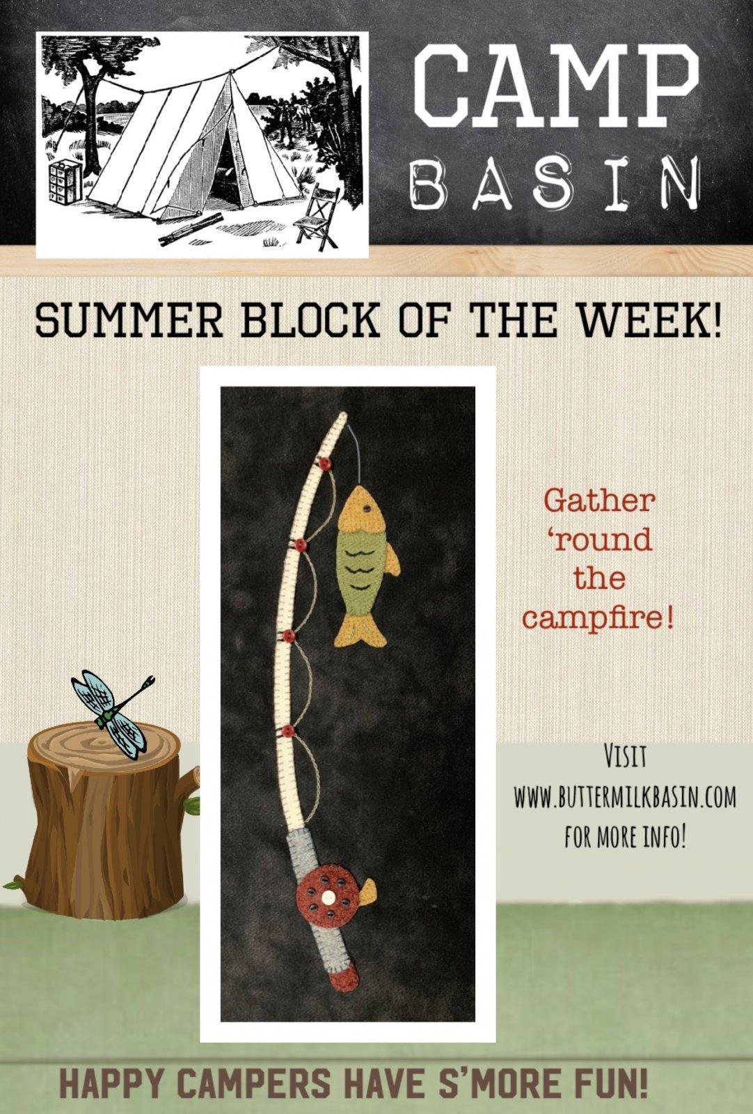 CAMP BASIN Summer Block of the Week! * Block 10 Kit & Pattern