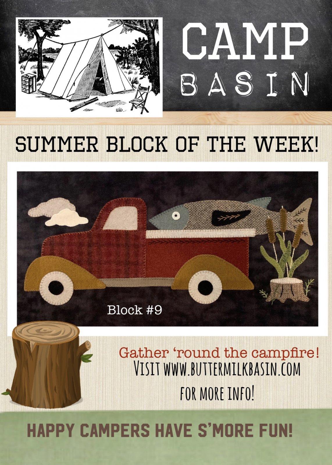 CAMP BASIN Summer Block of the Week! * Block 9 Kit & Pattern