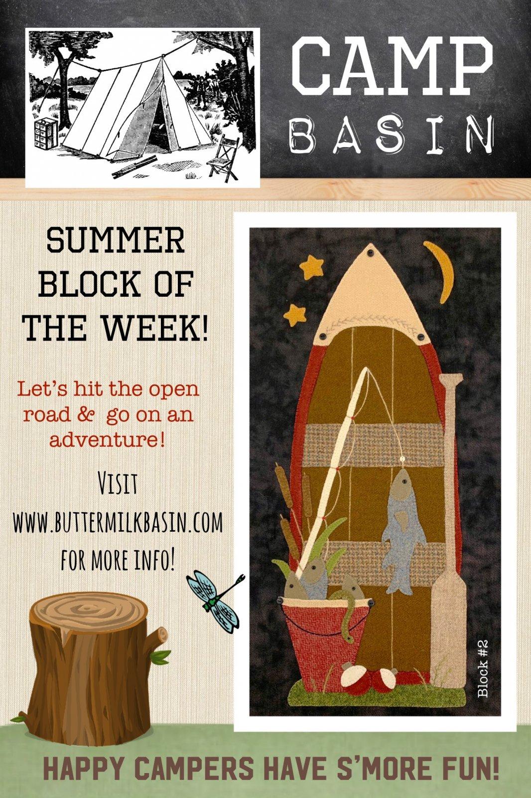 CAMP BASIN Summer Block of the Week! * Block 2 Kit & Pattern
