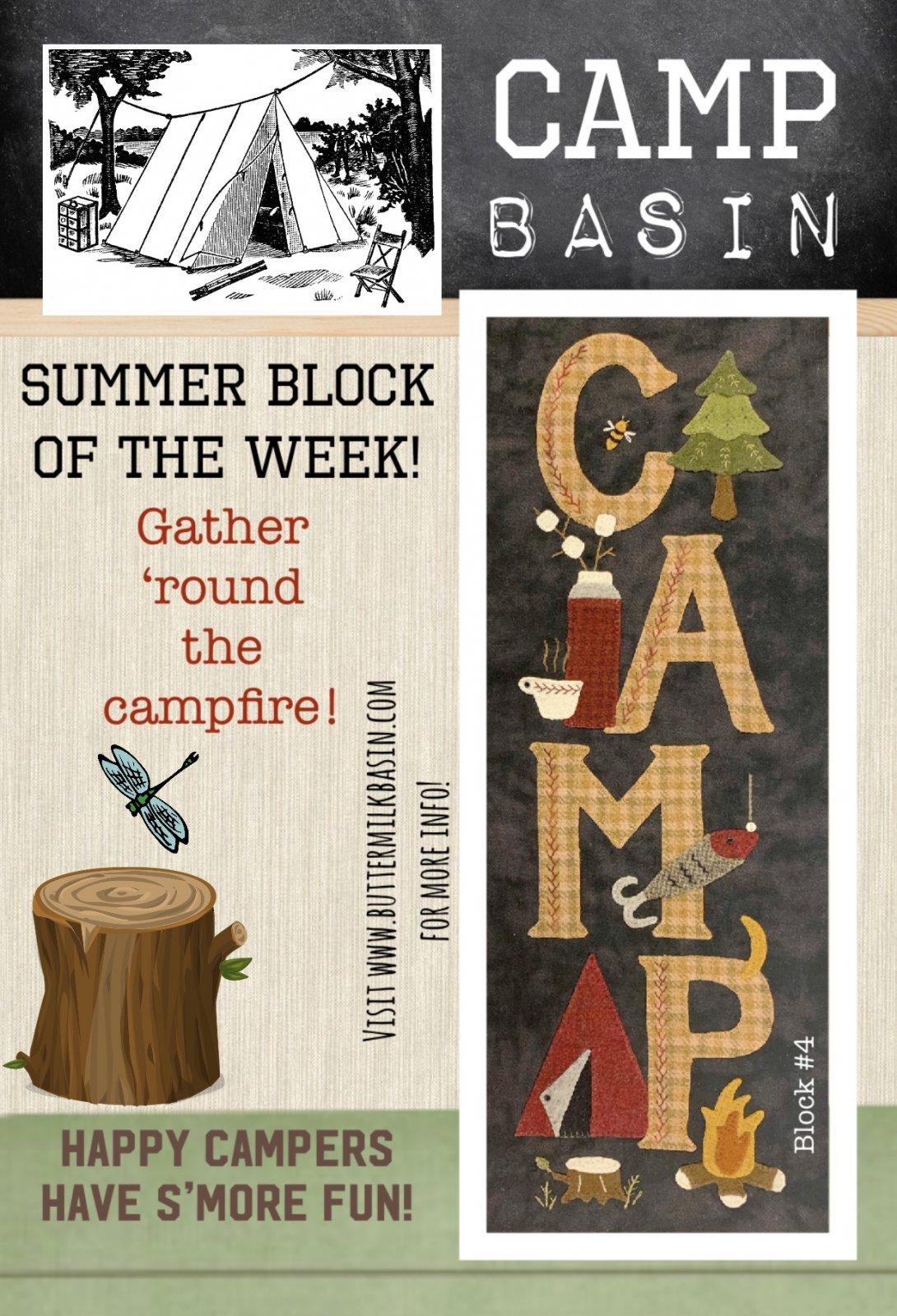 CAMP BASIN Summer Block of the Week! * Block 4 Kit & Pattern