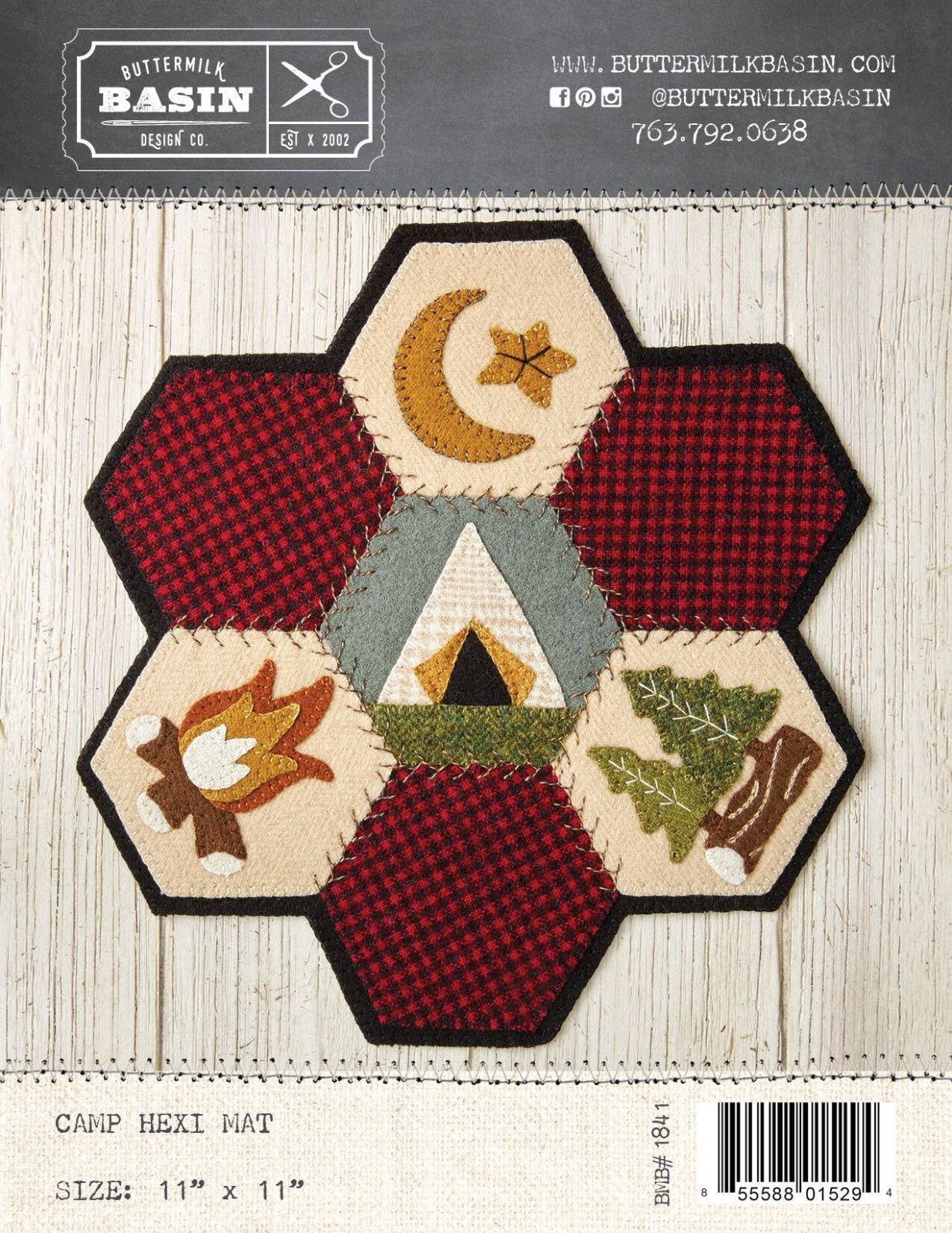 Camp Hexi Mat * Kit & Pattern
