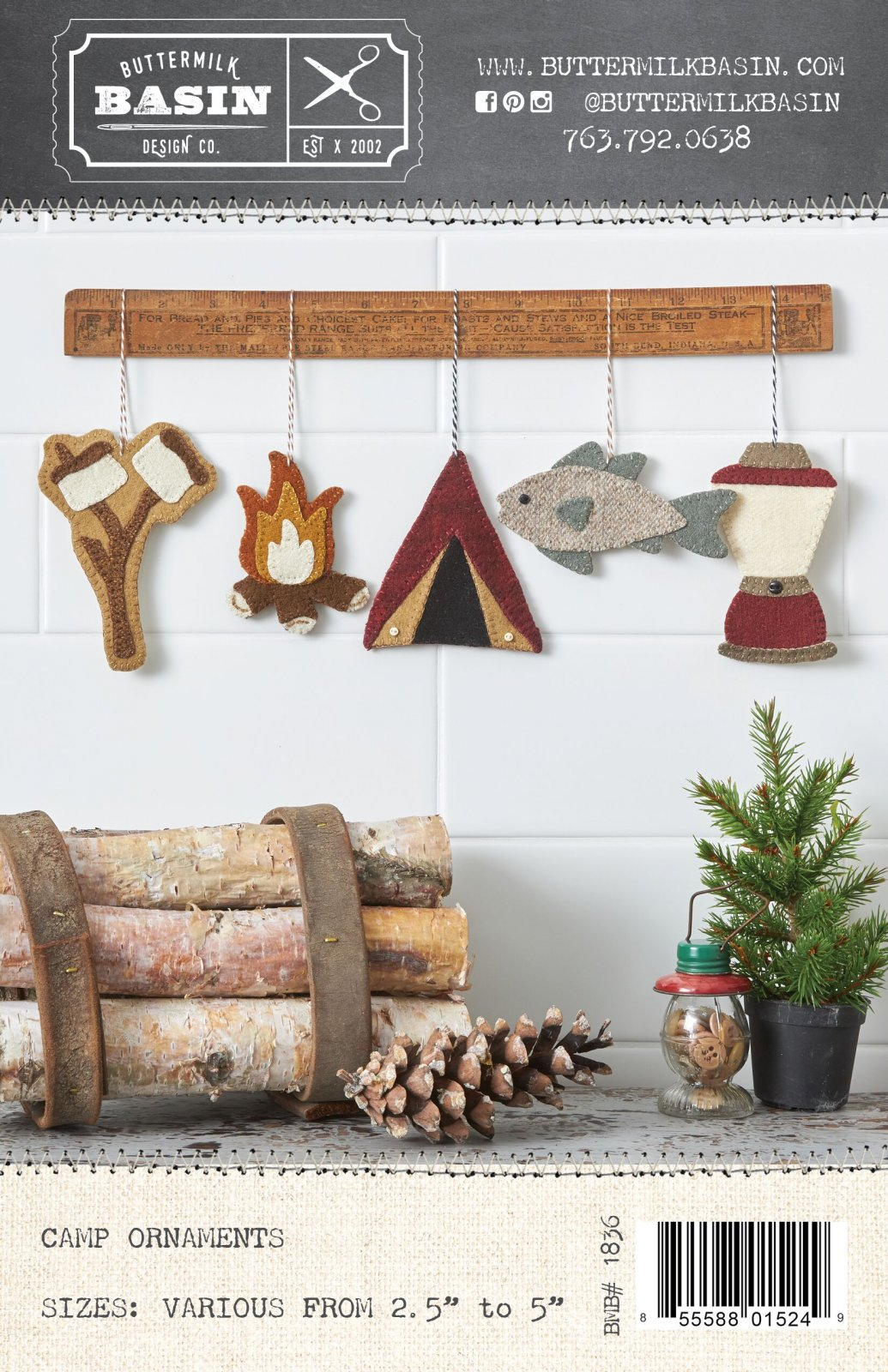 Camp Ornaments * Kit & Pattern