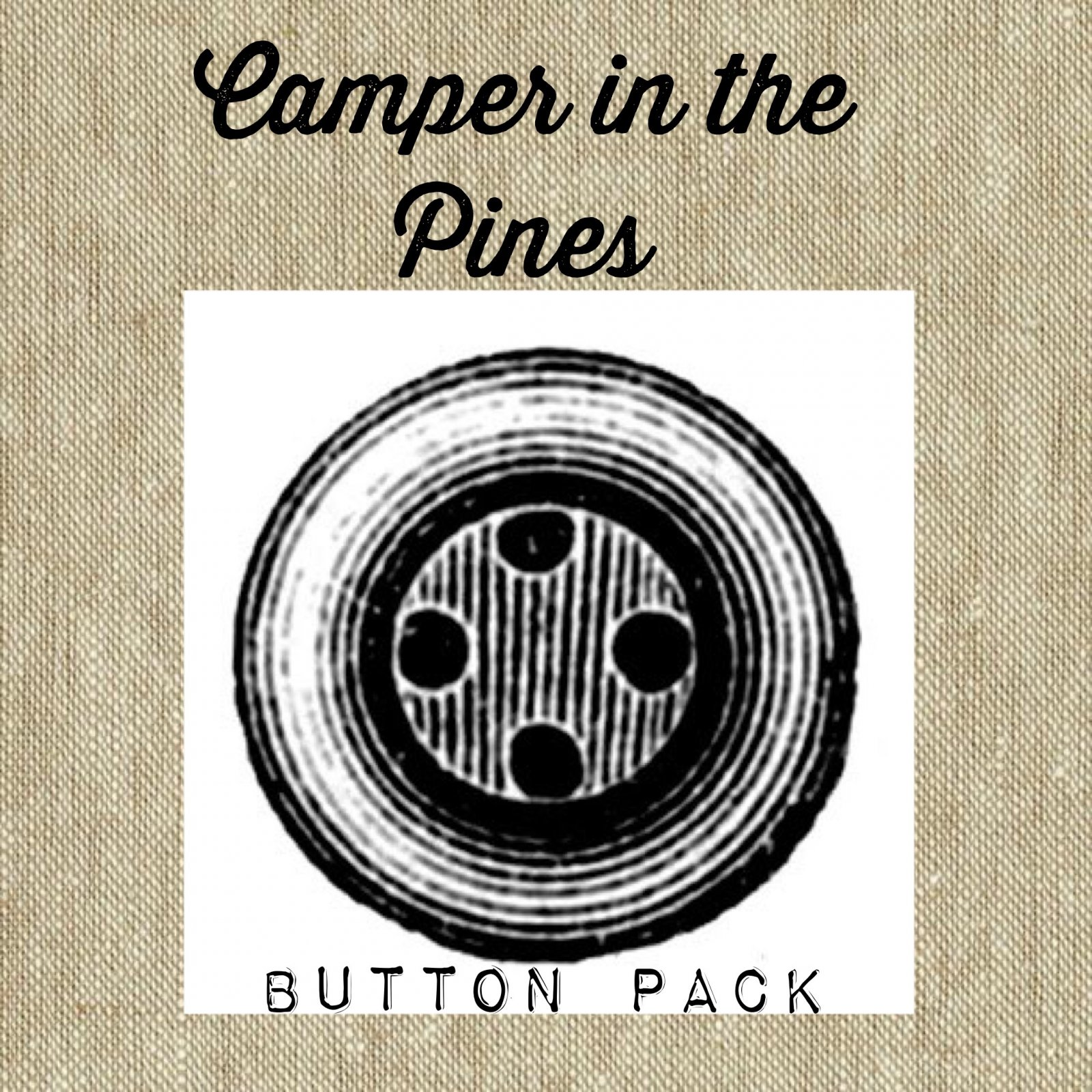 Camper in the Pines Button Pack