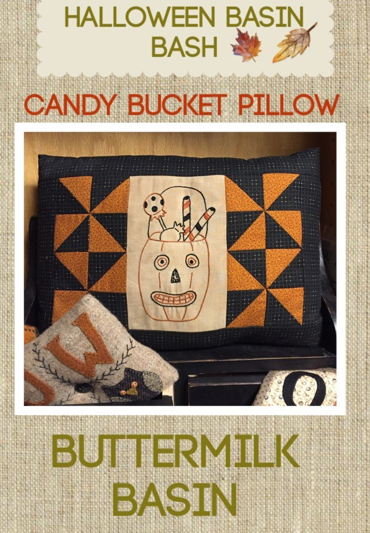 Candy Bucket Pillow * KIT and Pattern
