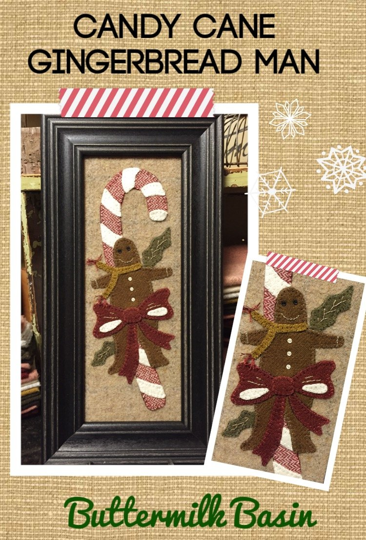 Candy Cane Gingerbread Man *Kit & Pattern