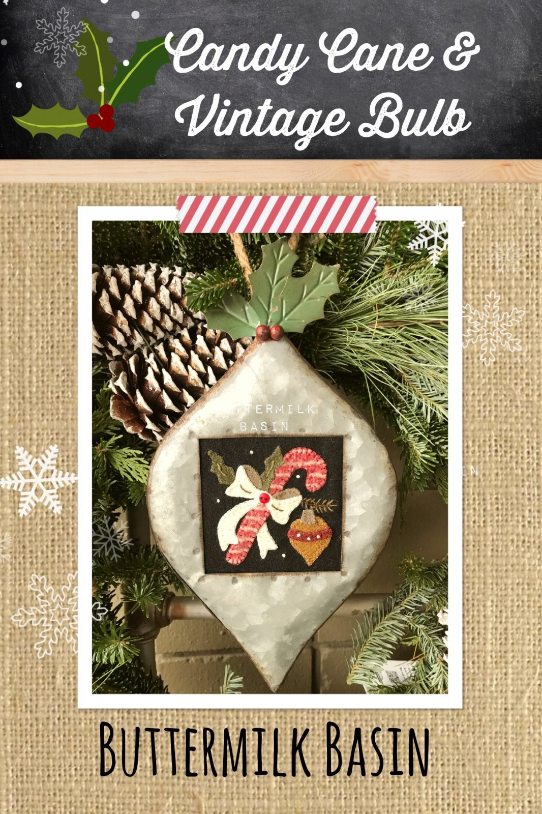 Candy Cane & Vintage Bulb KIT & Pattern