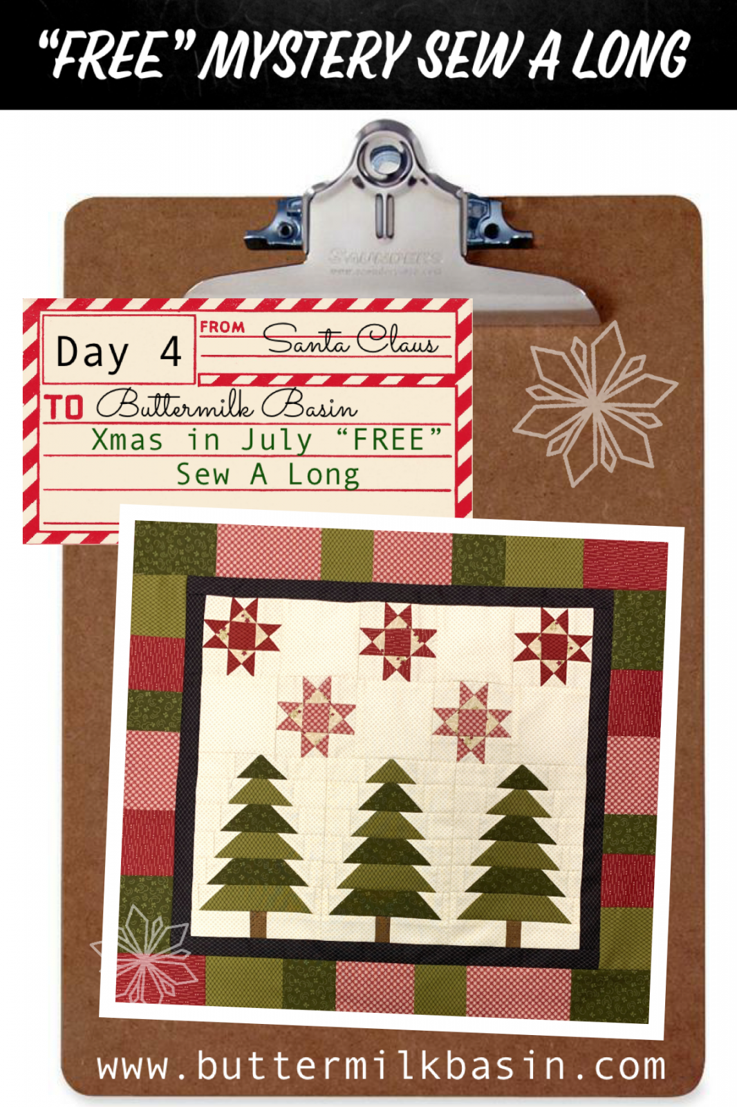 Christmas In July Sew Along * Kit