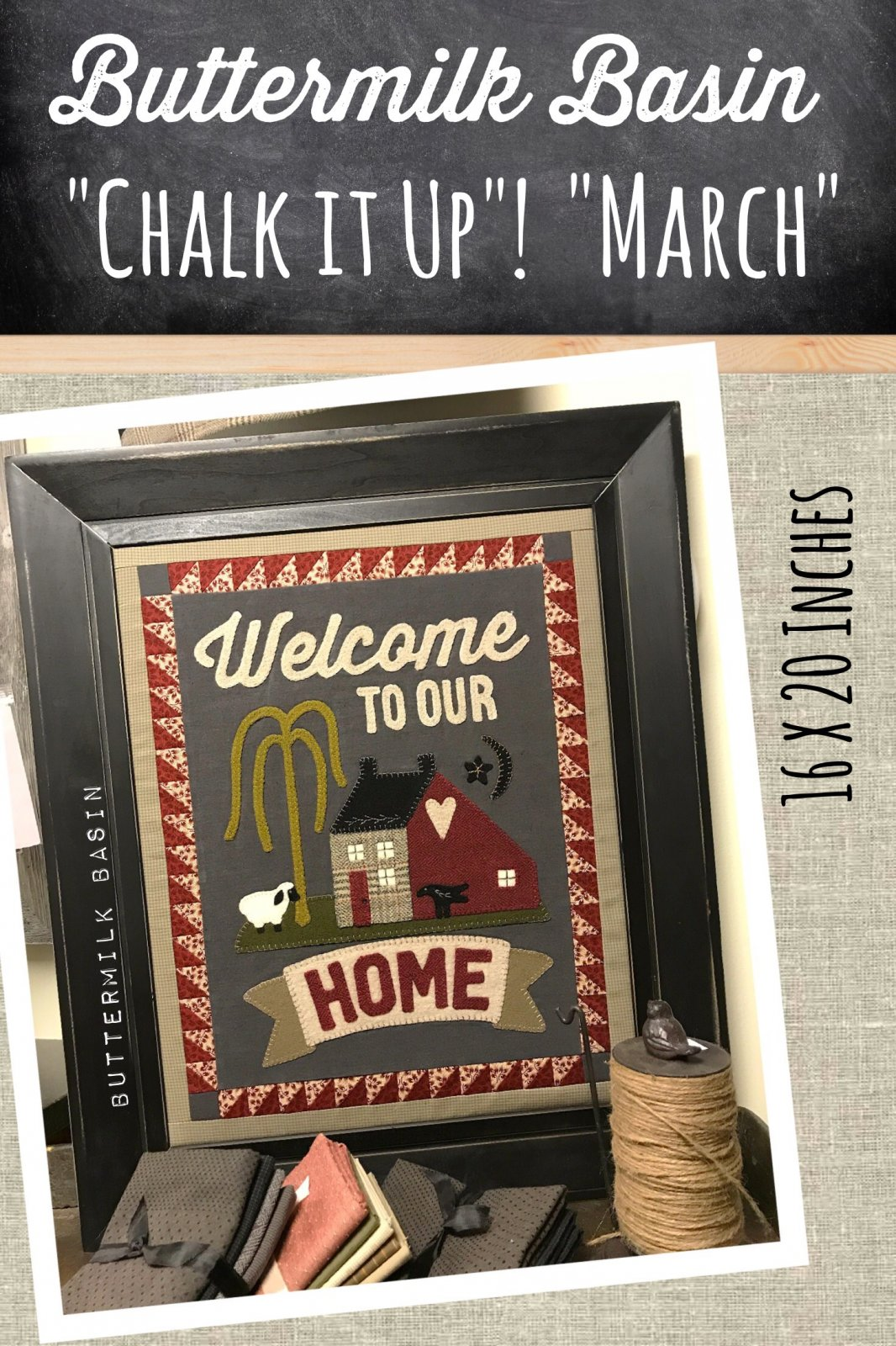 Chalk it Up! March KIT and Pattern