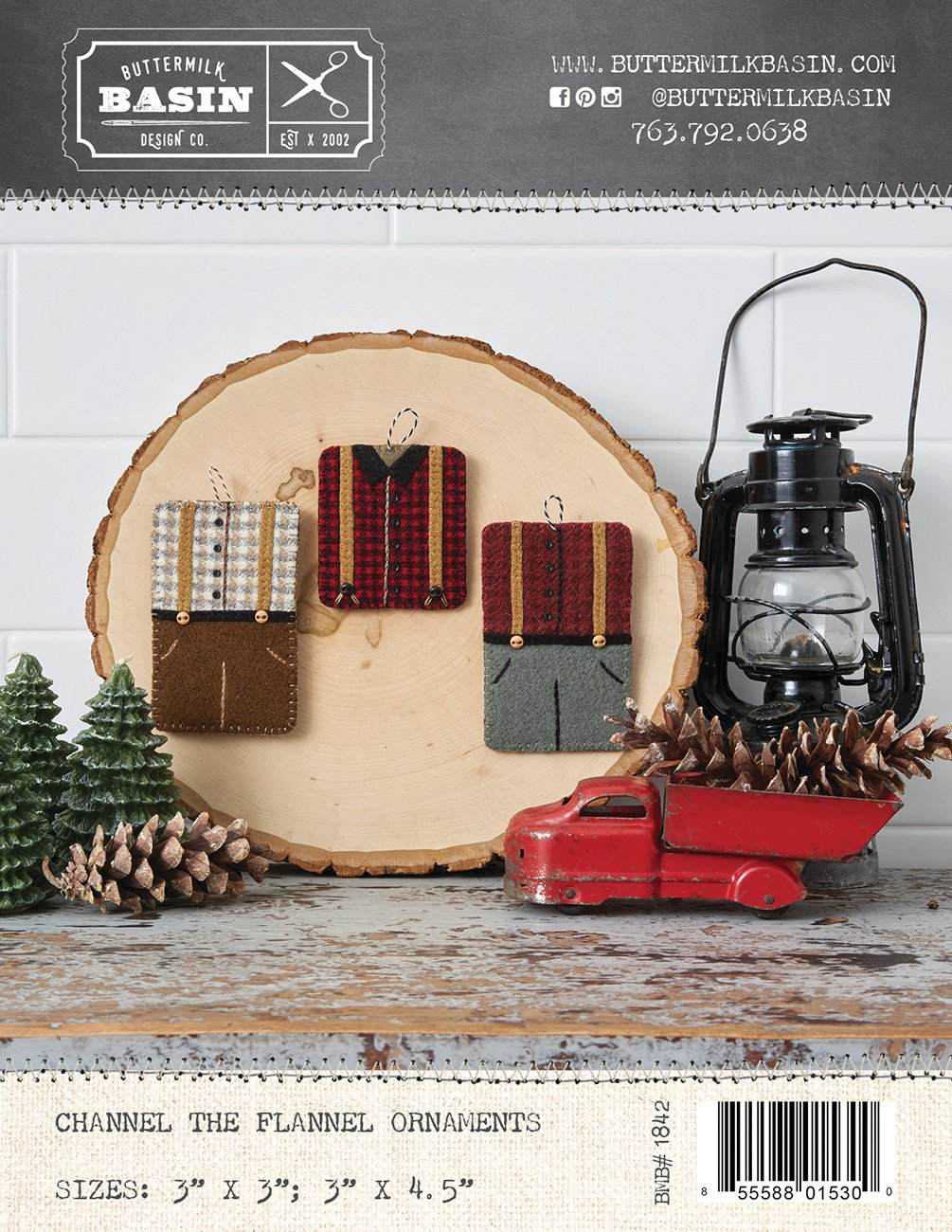 Channel the Flannel Ornaments *Kit & Pattern