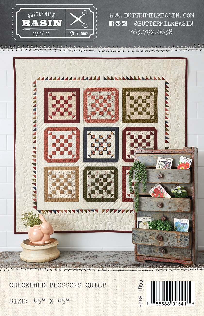 Checkered Blossoms Quilt *Pattern