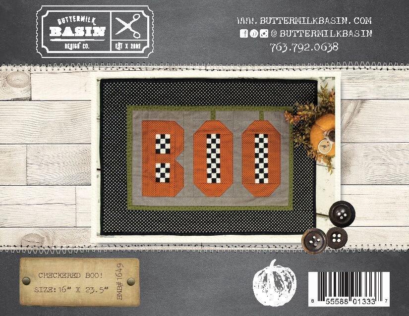 Checkered BOO!