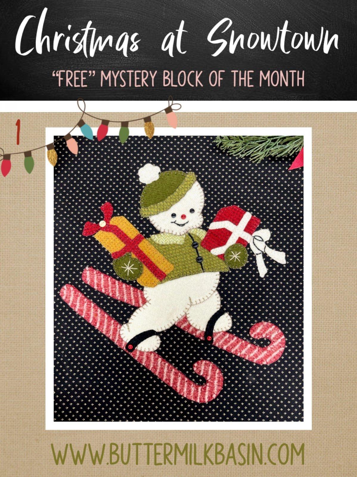 Christmas at Snowtown Block #1 *2021 Mystery BOM *Pattern & Kit