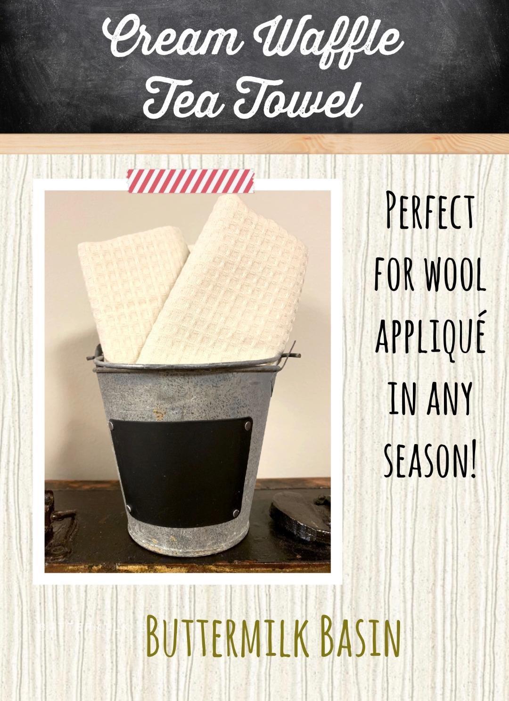 Cream Waffle Tea Towel