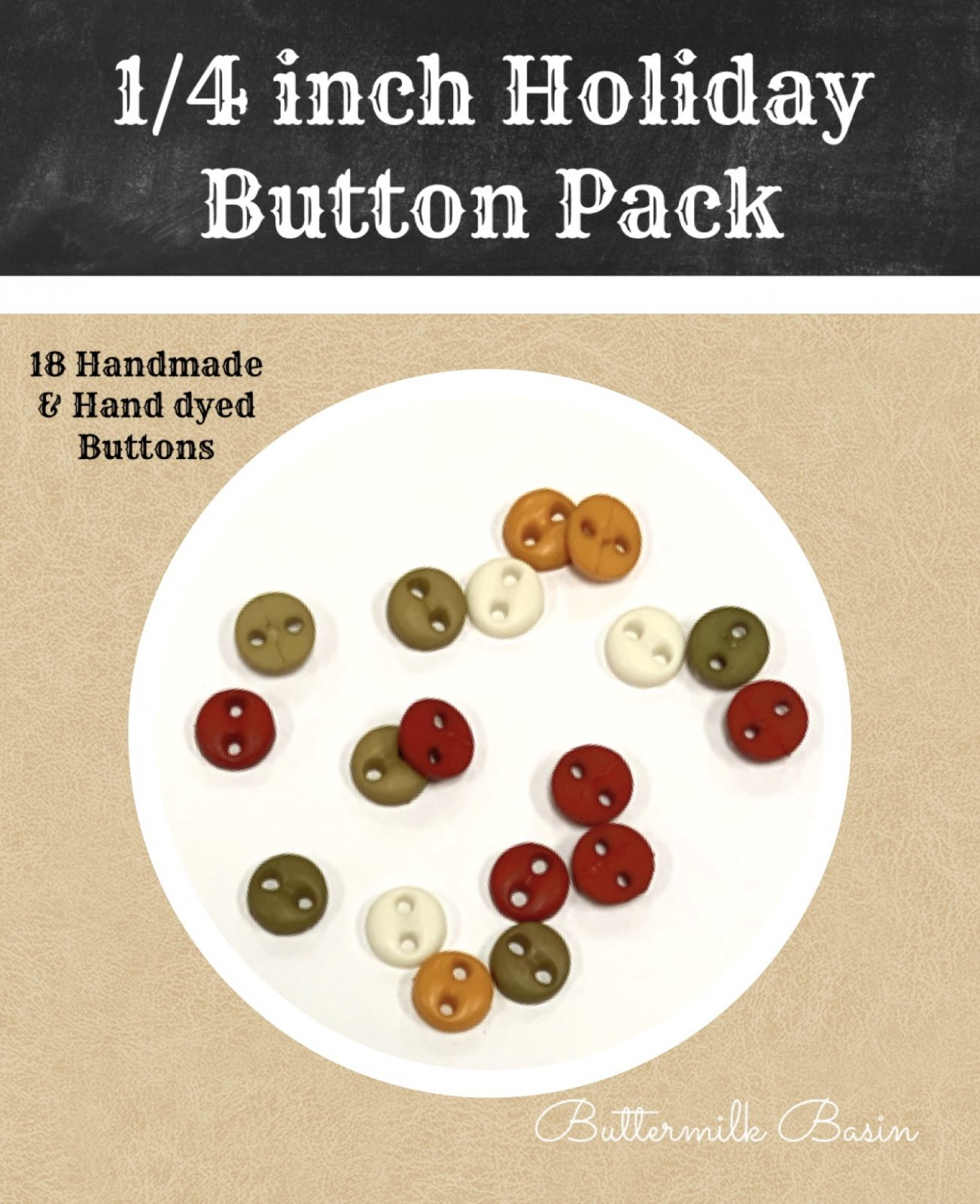 1/4 Holiday Button Pack