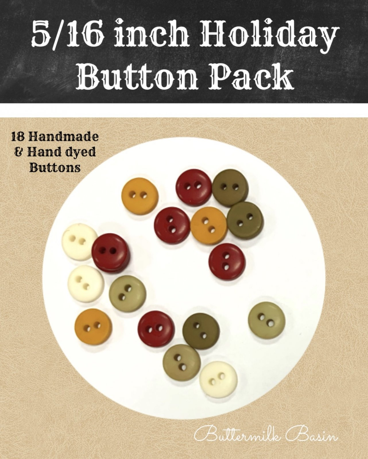 5/16 Holiday Button Pack