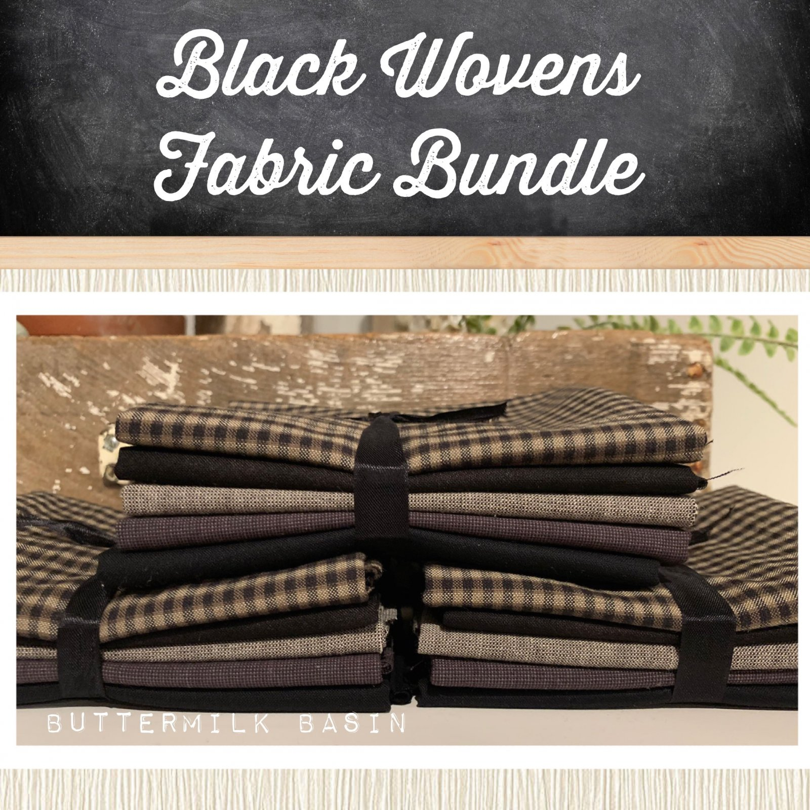 Black Wovens Fabric Bundle