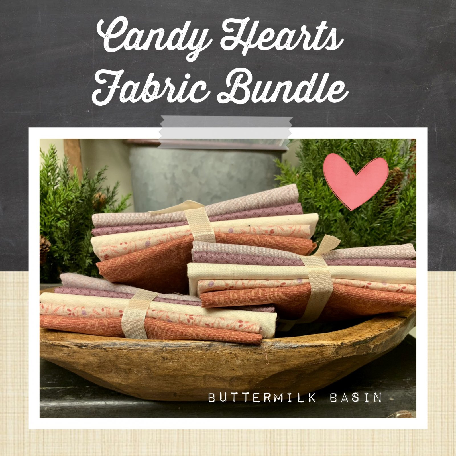 Candy Hearts Fabric Bundle
