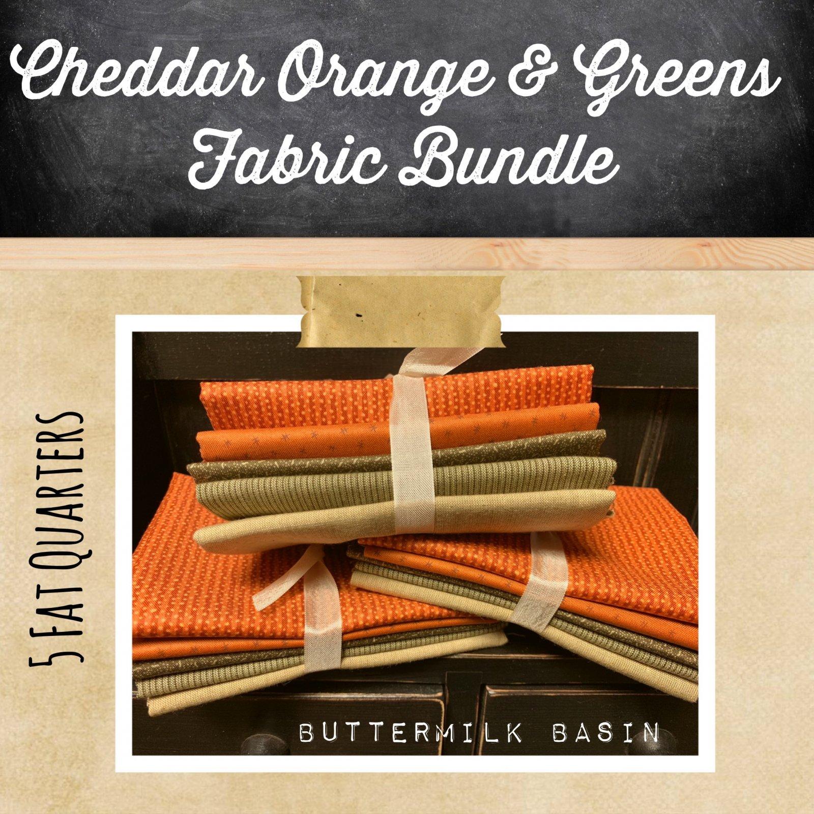 Cheddar Orange & Greens Fabric Bundle