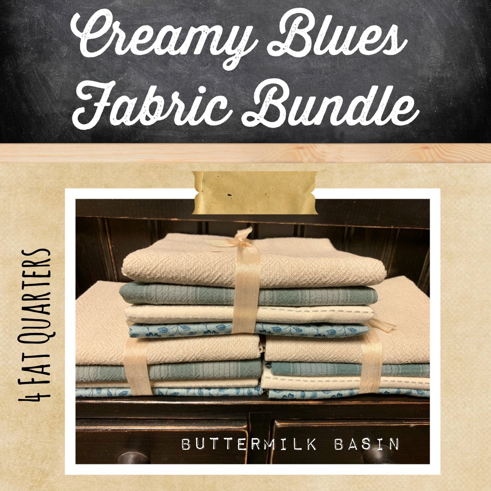 Creamy Blues Fabric Bundle