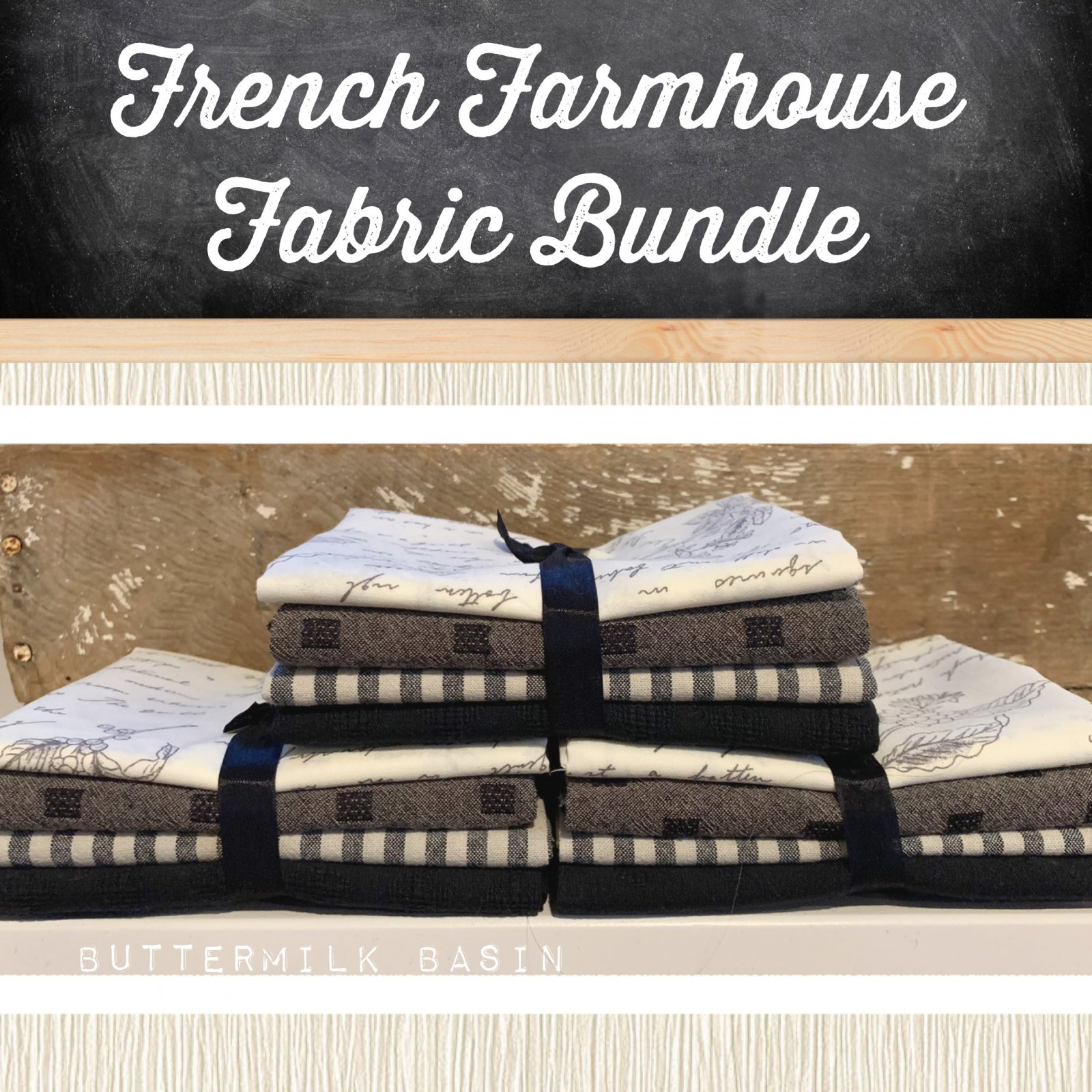 French Farmhouse Fabric Bundle