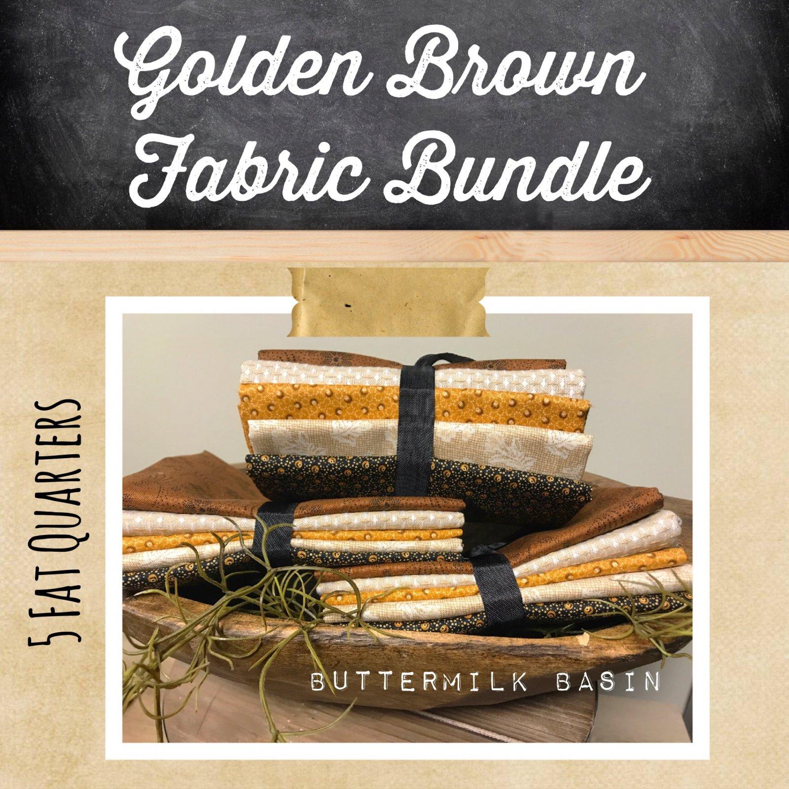 Golden Brown Fabric Bundle