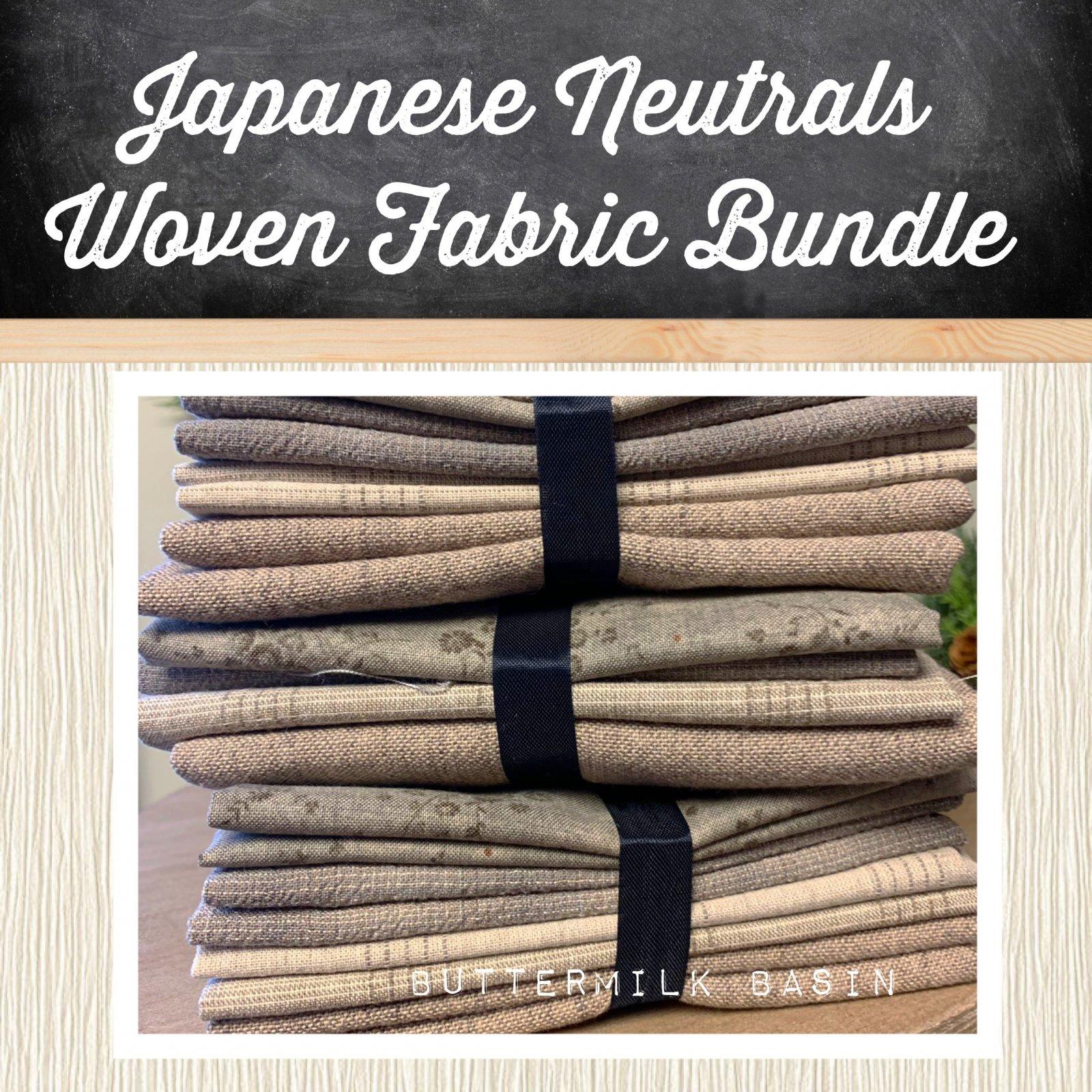 Japanese Neutrals Woven Fabric Bundle