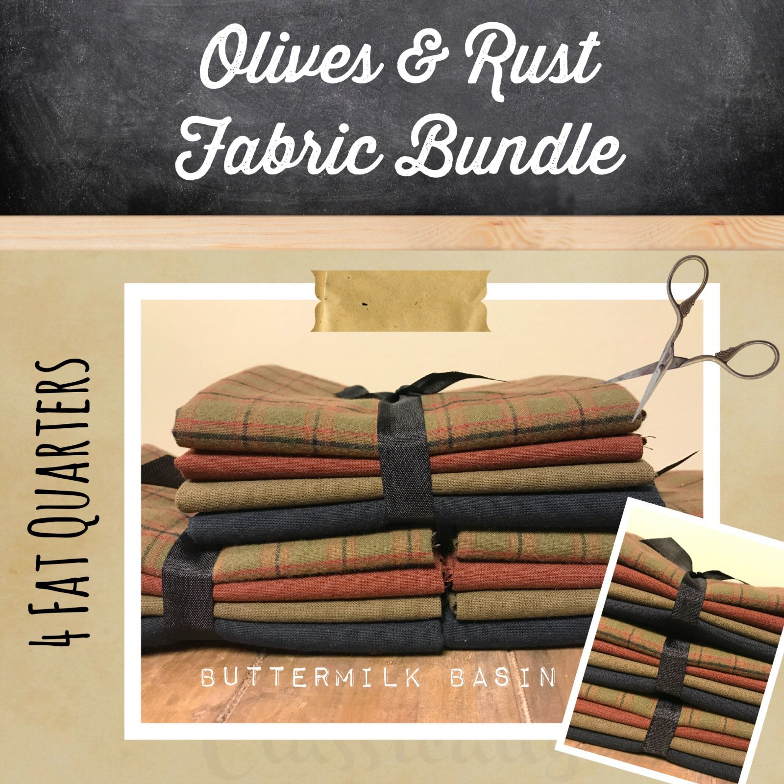 Olives & Rust Woven Fabric Bundle
