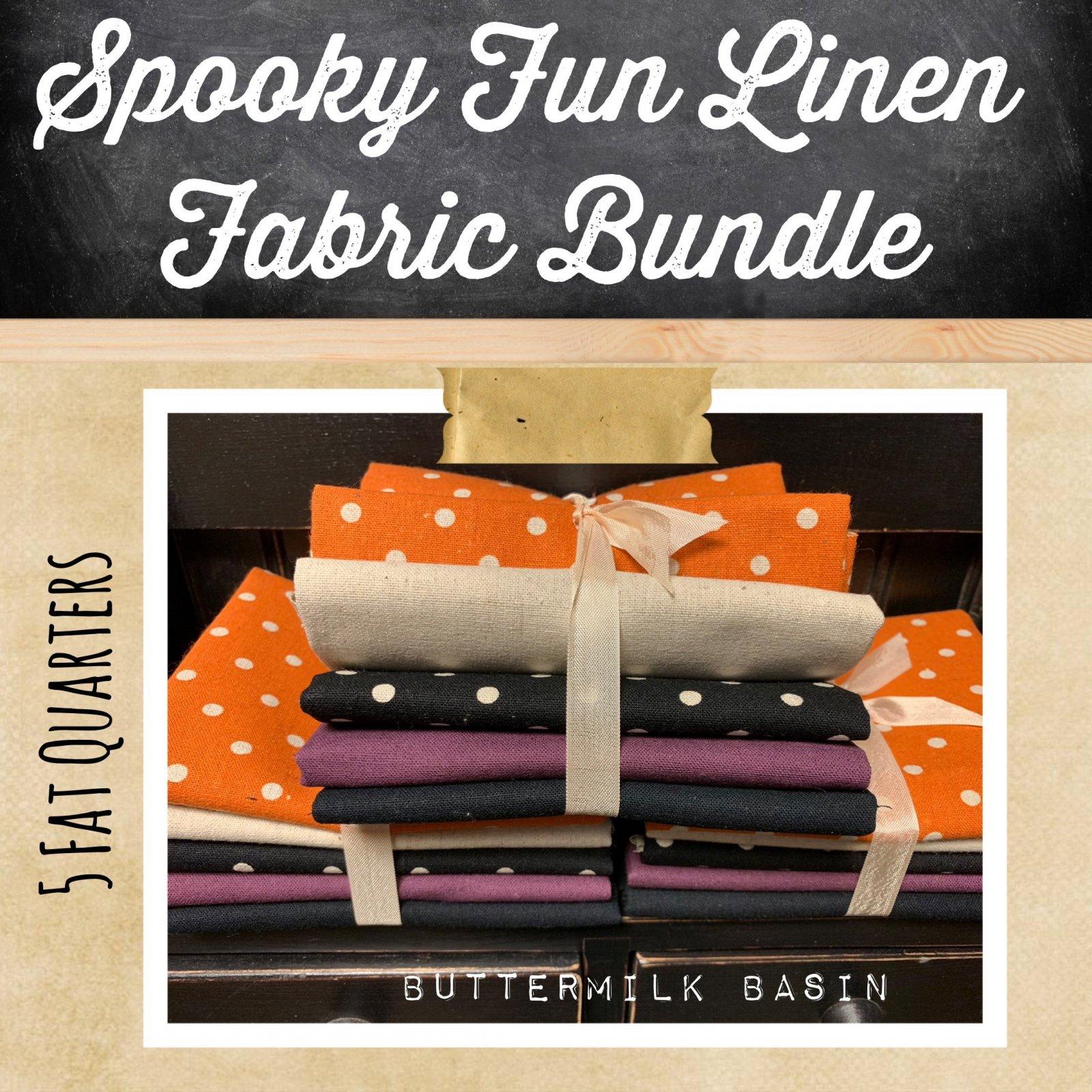 Spooky Fun Linen Fabric Bundle