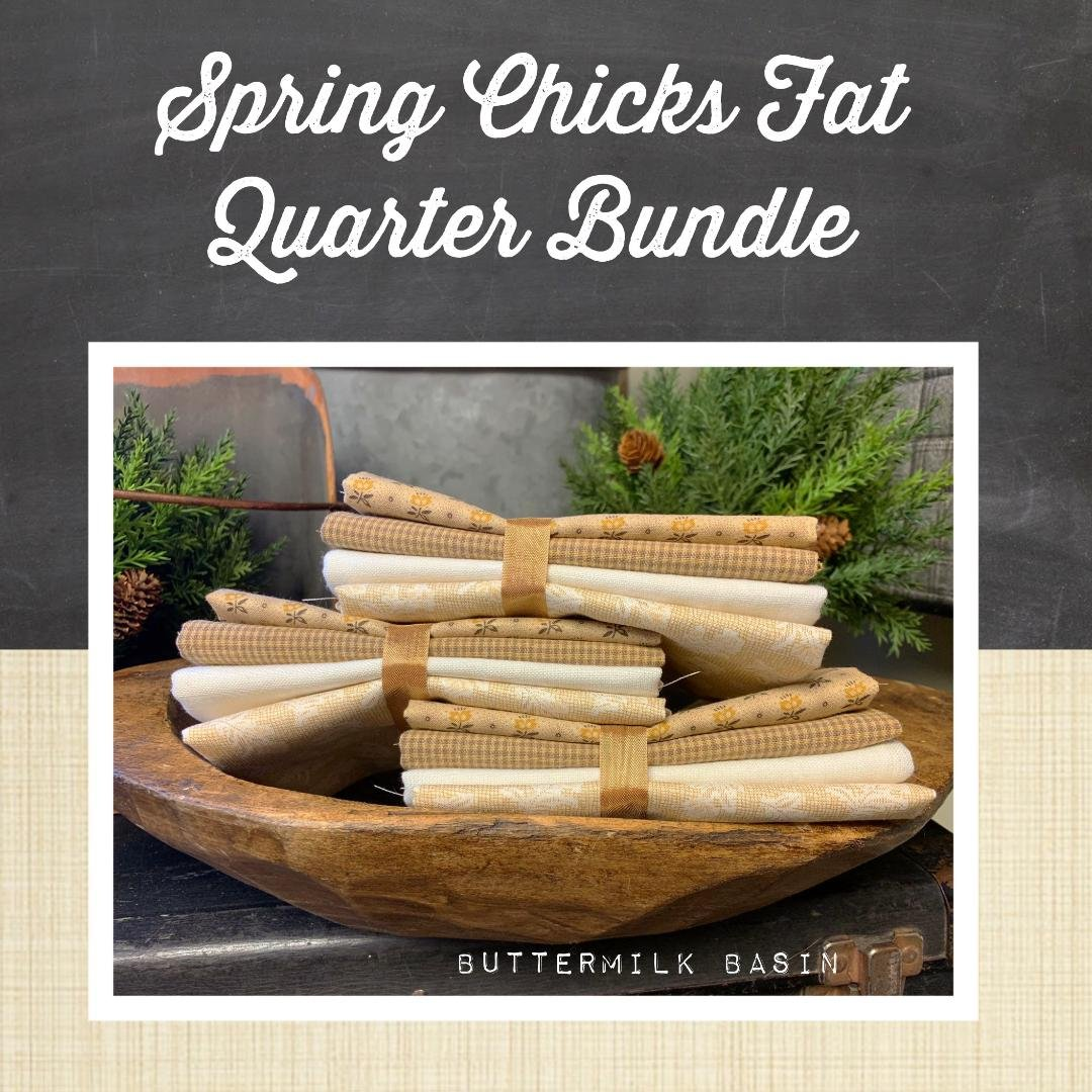 Spring Chicks Fat Quarter Fabric Bundle
