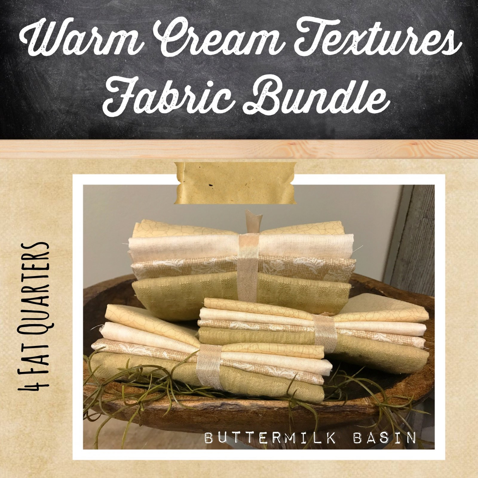Warm Cream Textures Fabric Bundle
