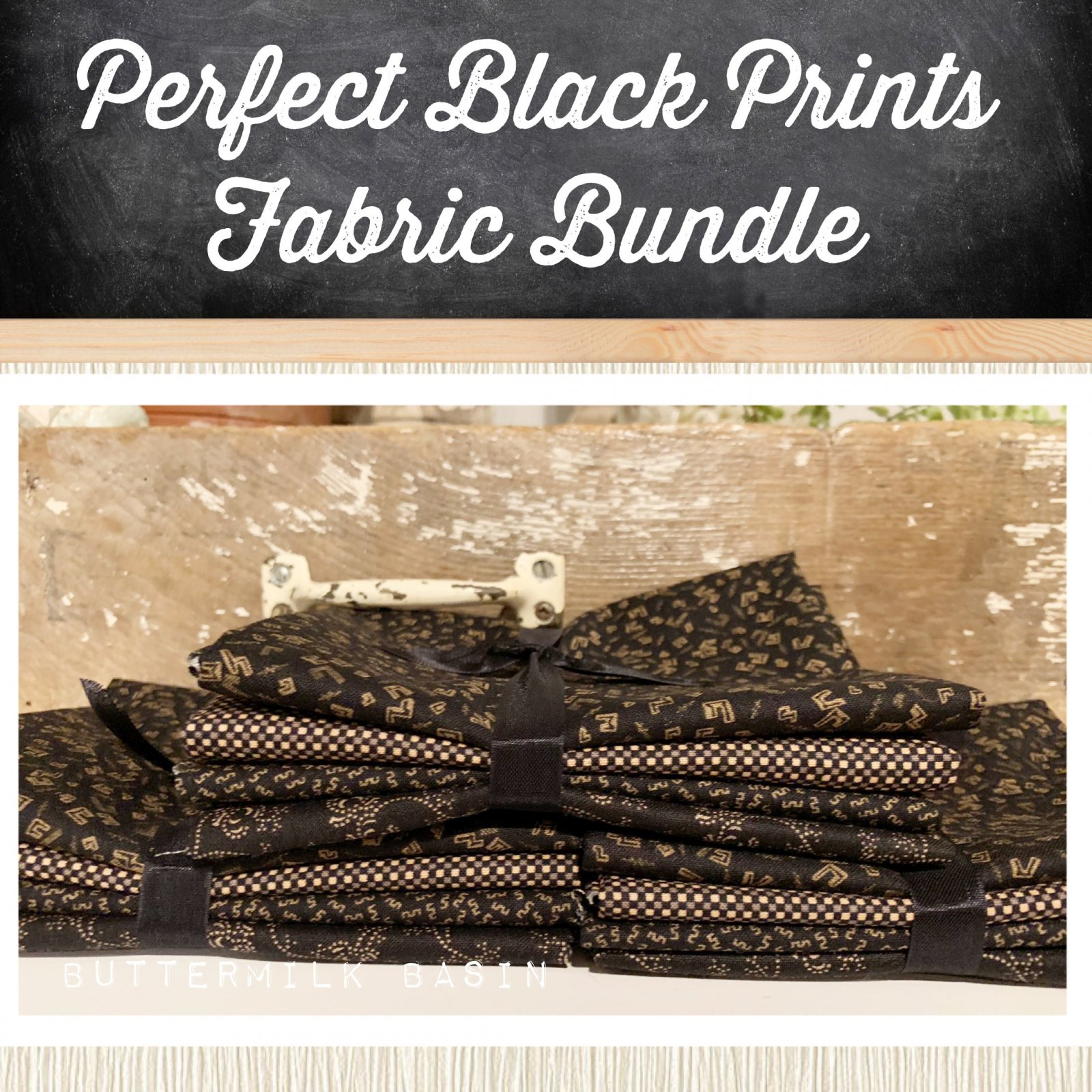 Perfect Black Prints Fabric Bundle