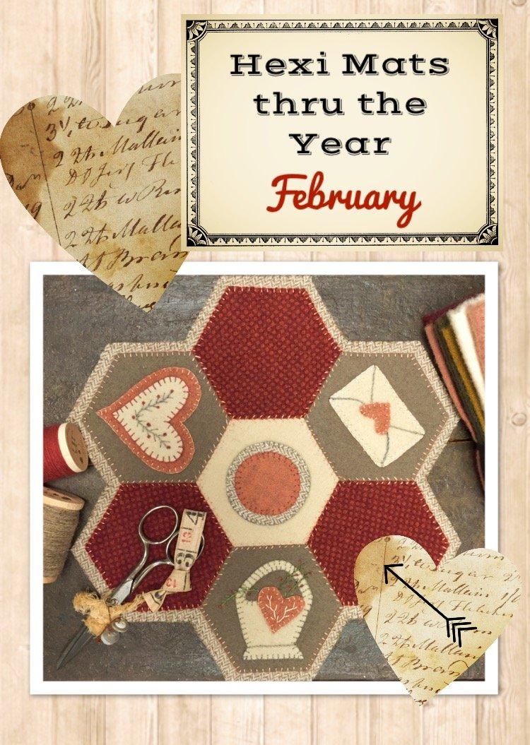 Hexi Mats thru the Year * February Pattern