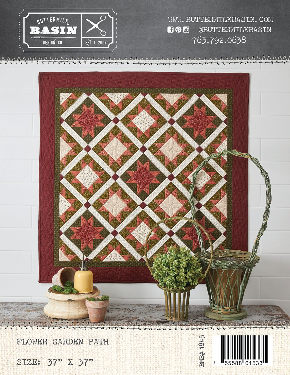 Flower Garden Path Quilt *Pattern