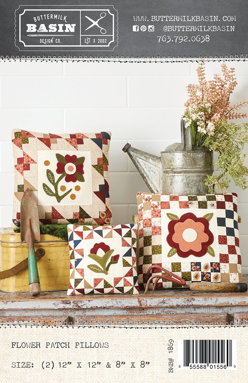 Flower Patch Pillows *Pattern