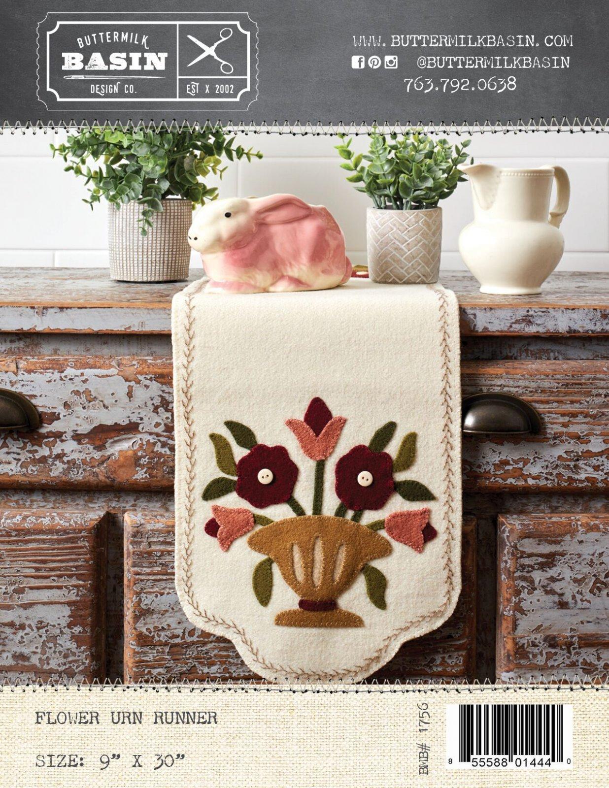 Flower Urn Runner *Pattern & Kit