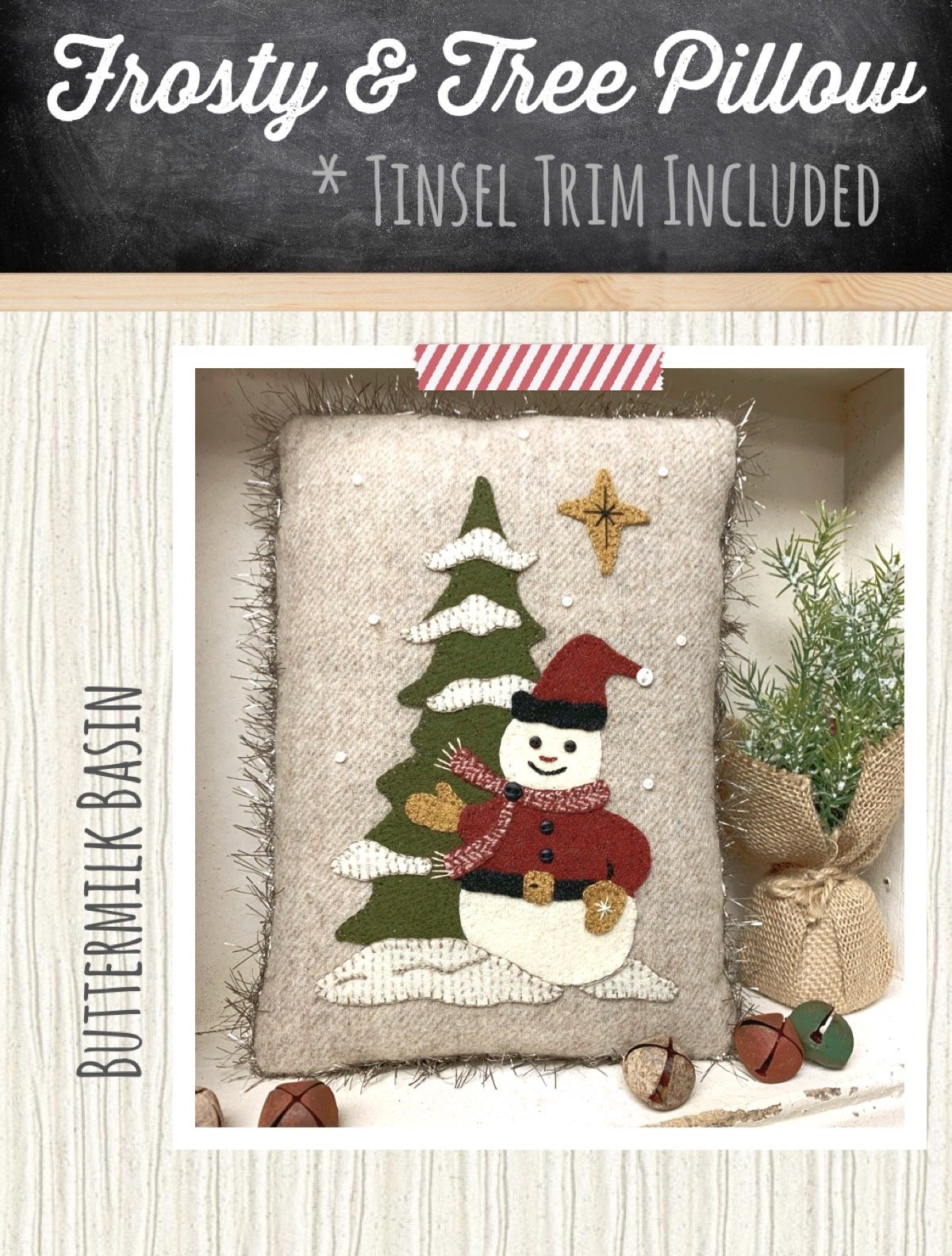 Frosty & Tree Pillow *Kit & Pattern