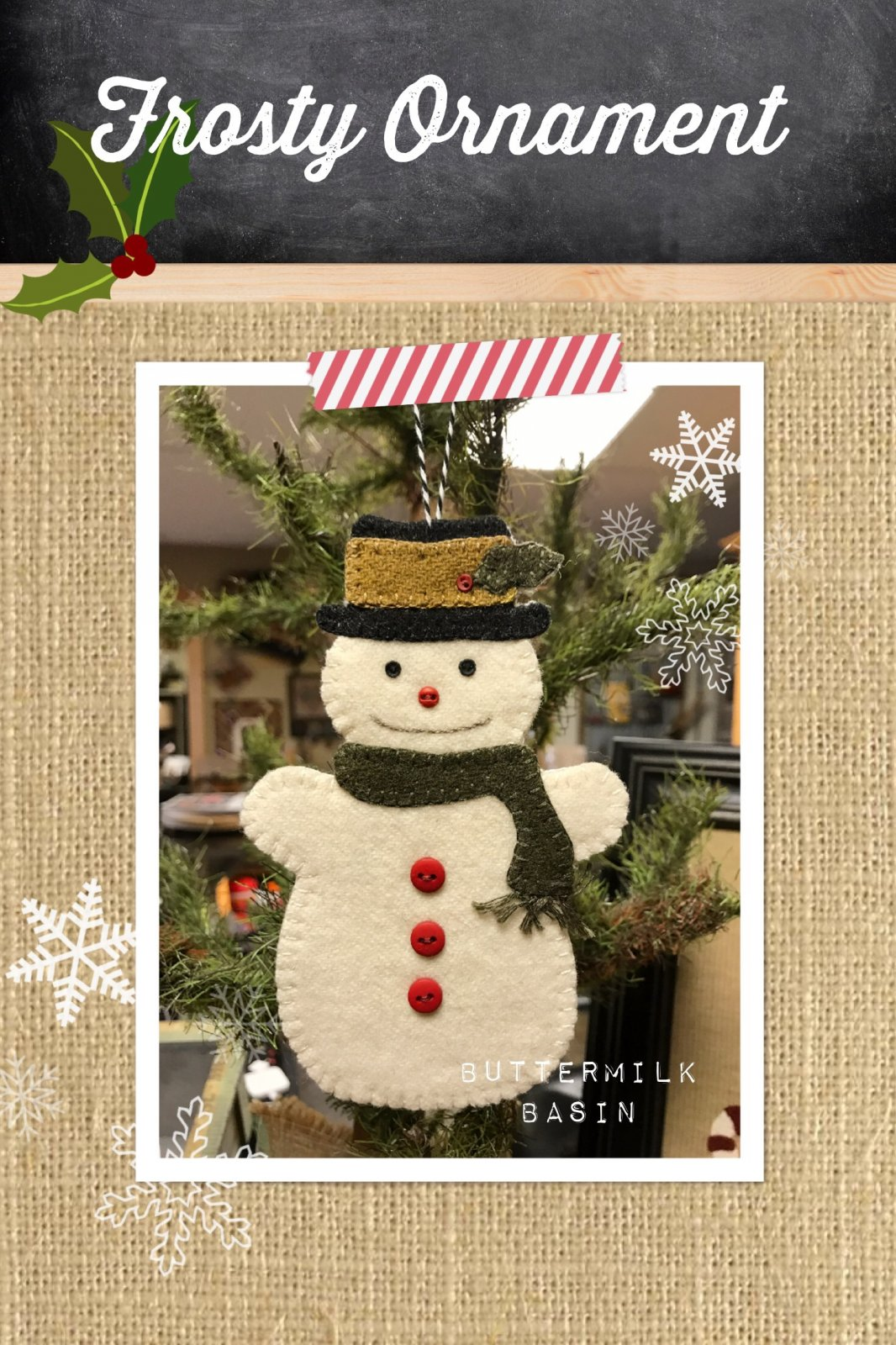 Frosty Ornament KIT & Pattern