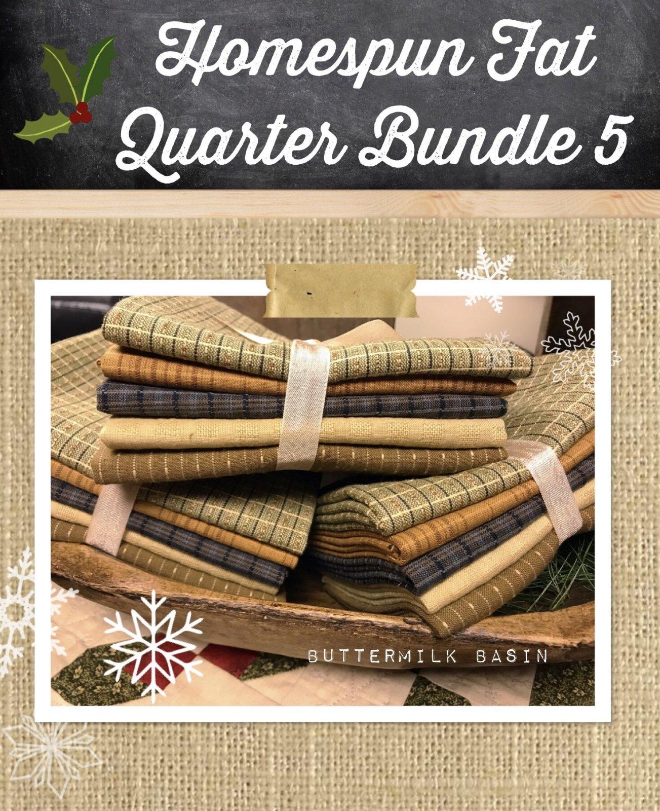Homespun Fat Quarter Bundle 5