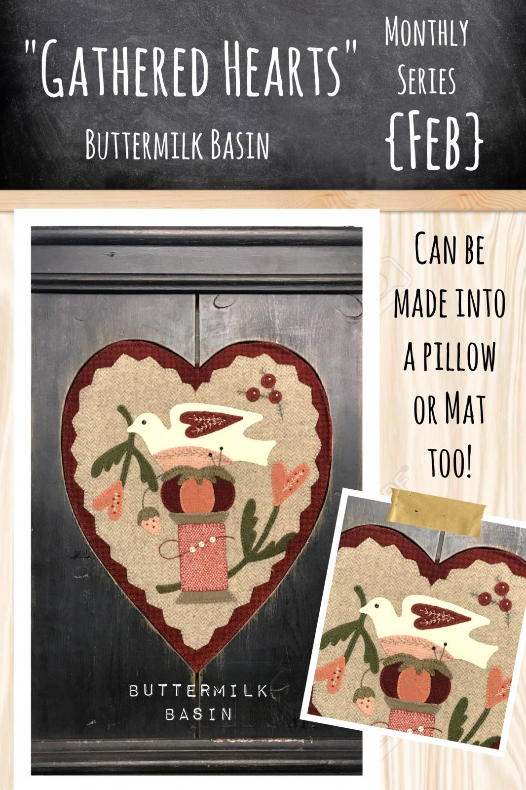 Gathered Hearts * February KIT & Pattern