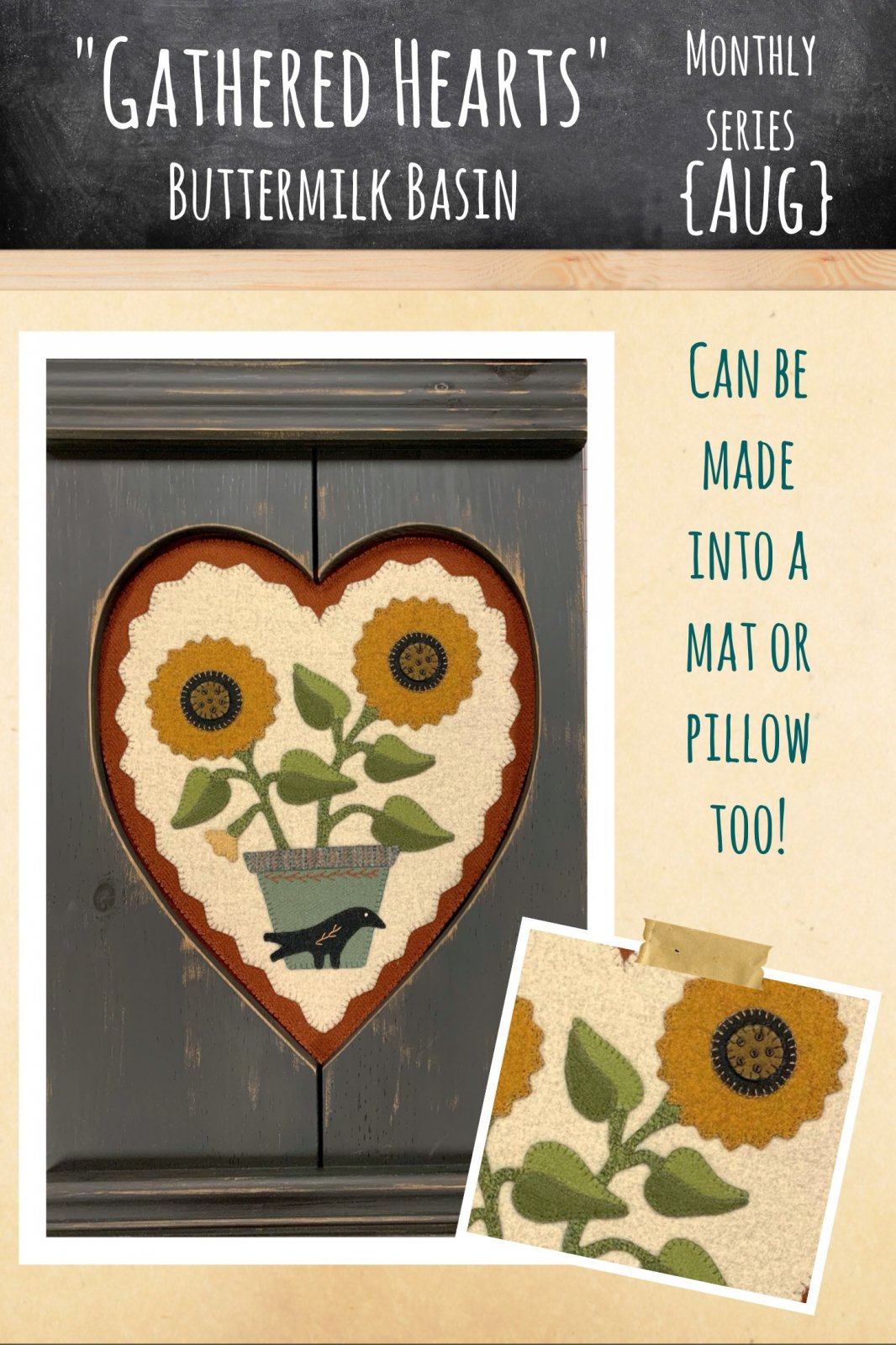 Gathered Hearts * August Kit & Pattern