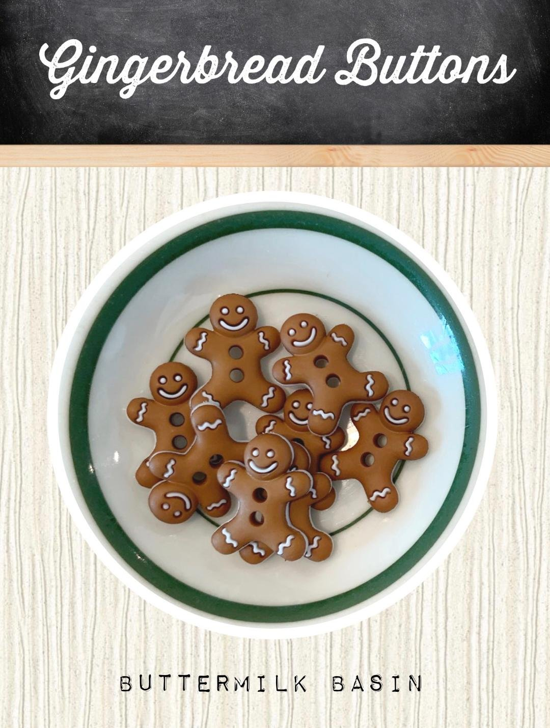 Gingerbread Buttons