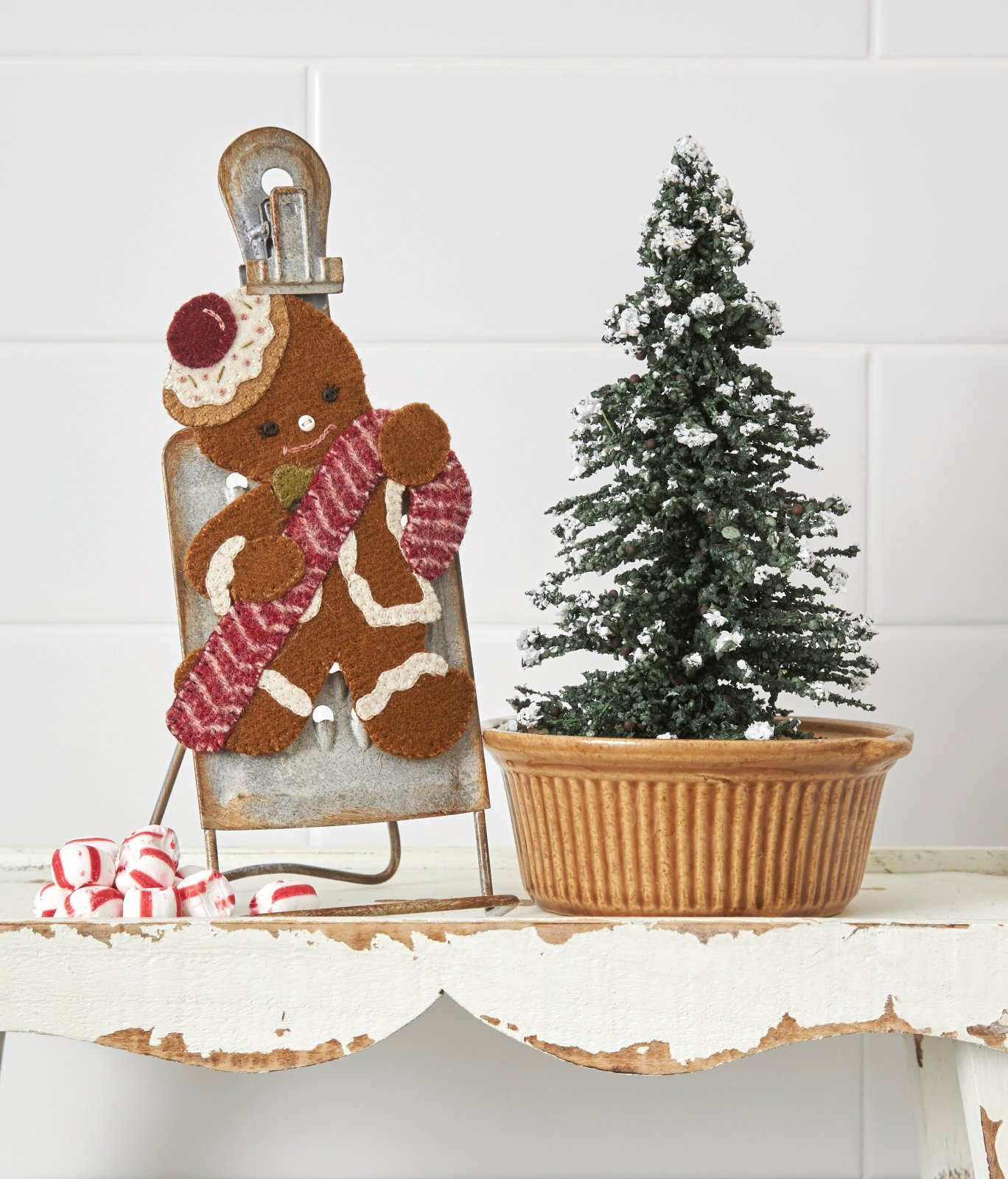 Gingerbread Man & Candy Cane * Kit & Pattern